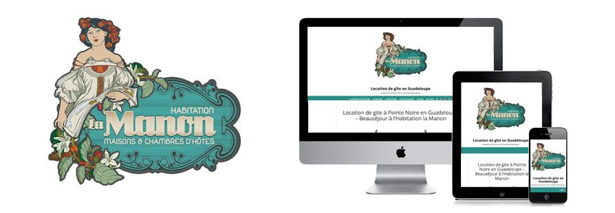 Réalisation de site Internet pour des gîtes de charme à Pointe Noire en Guadeloupe