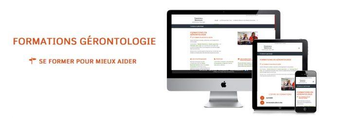 Création de site web professionnel formation gérontologie