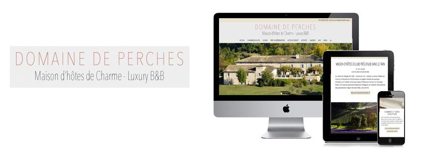 Création de site Internet pour une maison d'hotes de luxe